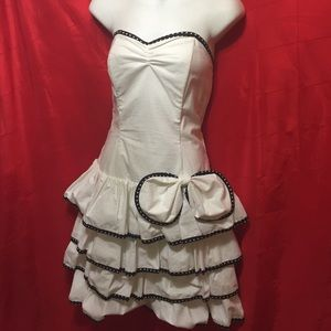 Vintage salsa fit & flair dress strapless M